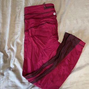 Pink lululemon cropped leggings